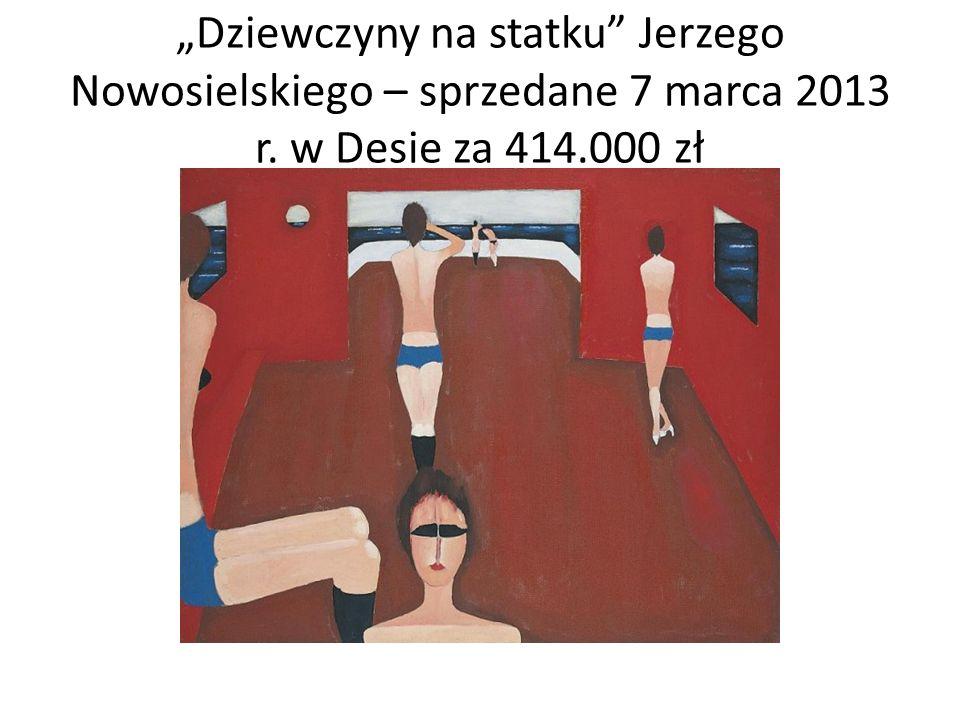 """""""Dziewczyny na statku Jerzego Nowosielskiego – sprzedane 7 marca 2013 r. w Desie za 414.000 zł"""