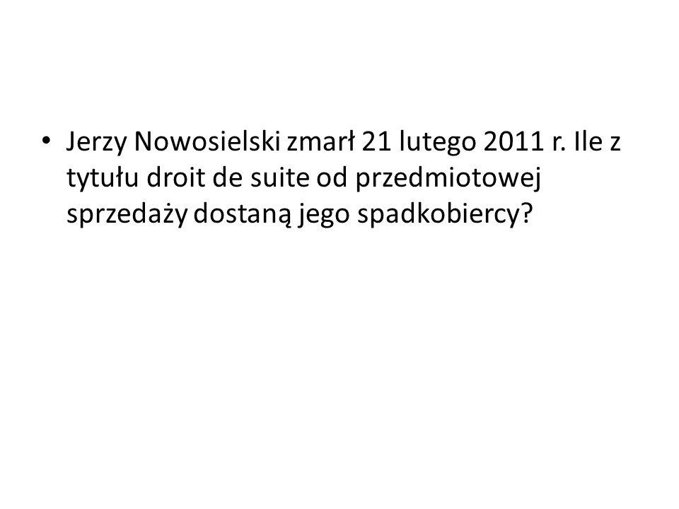 Jerzy Nowosielski zmarł 21 lutego 2011 r