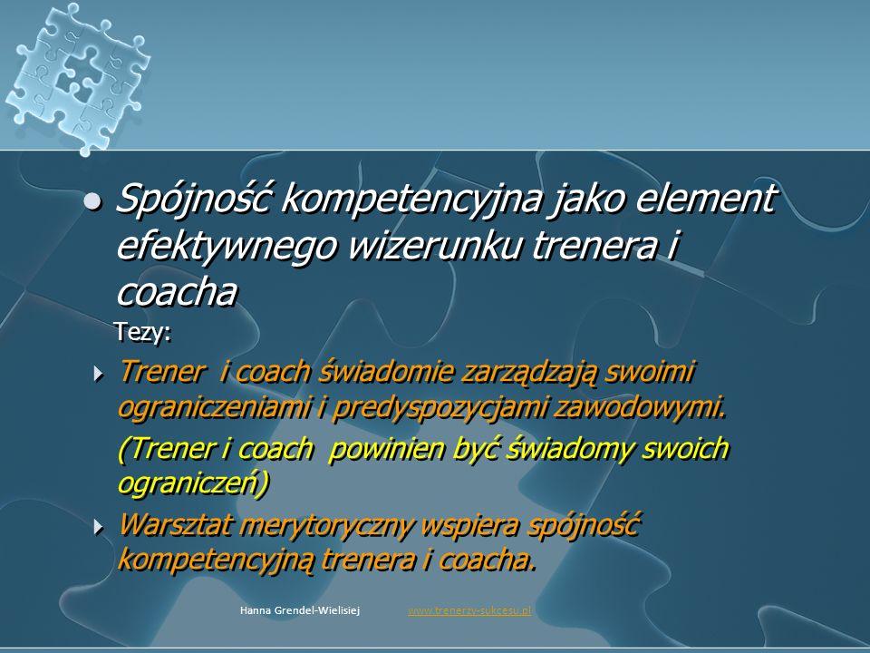 Spójność kompetencyjna jako element efektywnego wizerunku trenera i coacha