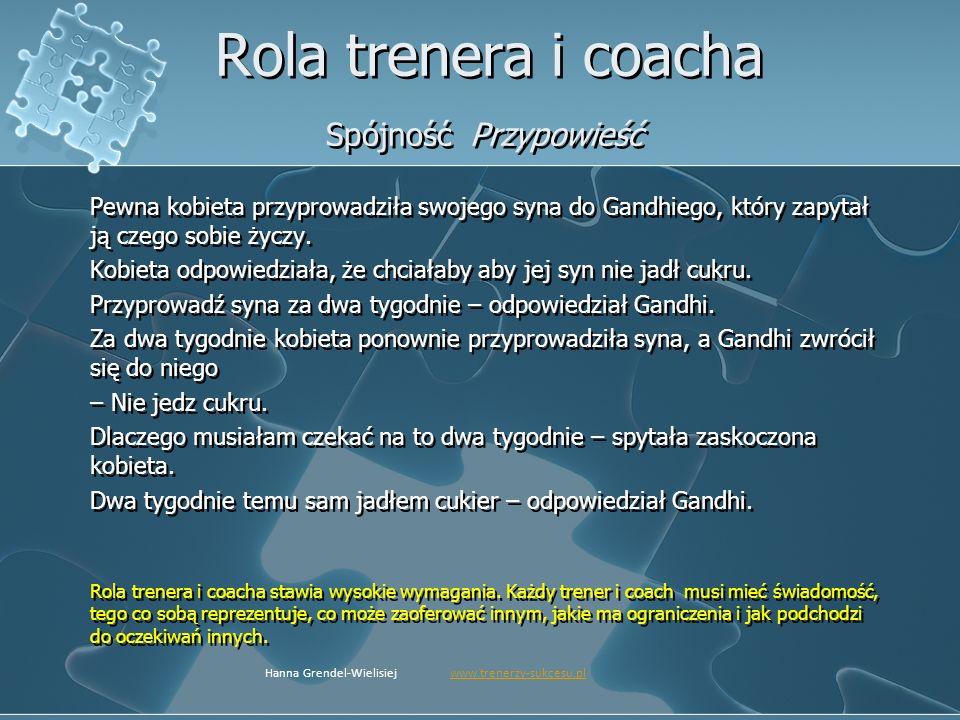 Rola trenera i coacha Spójność Przypowieść