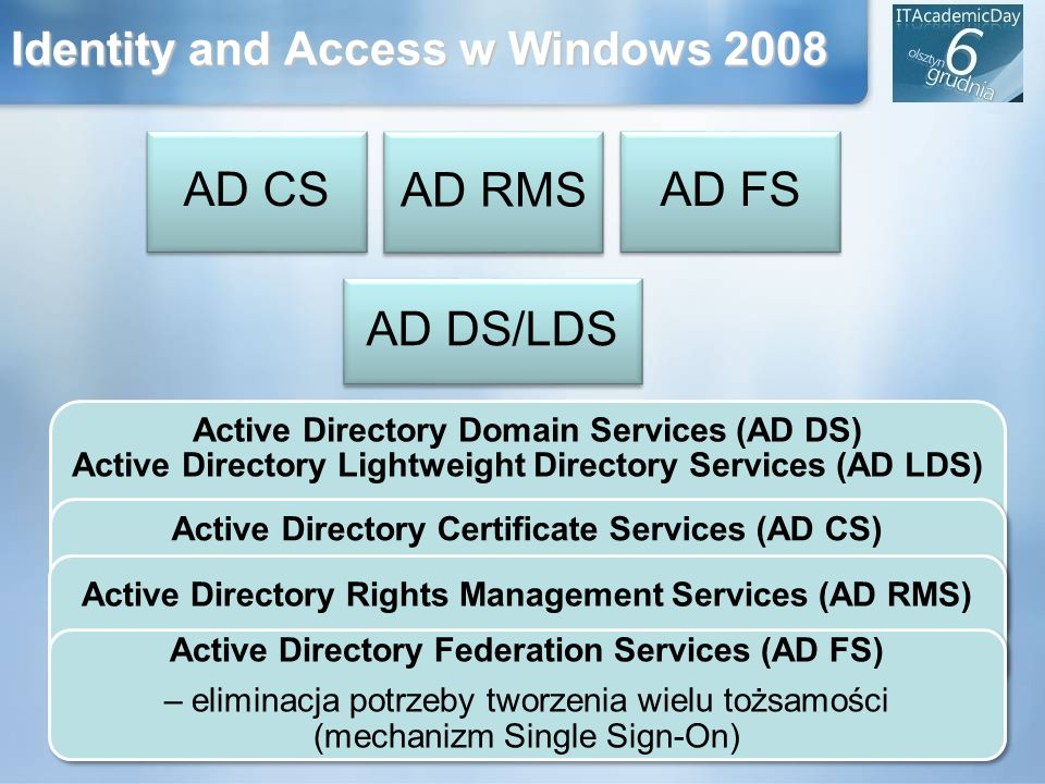 Identity and Access w Windows 2008