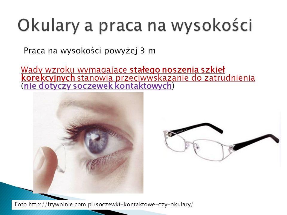 Okulary a praca na wysokości