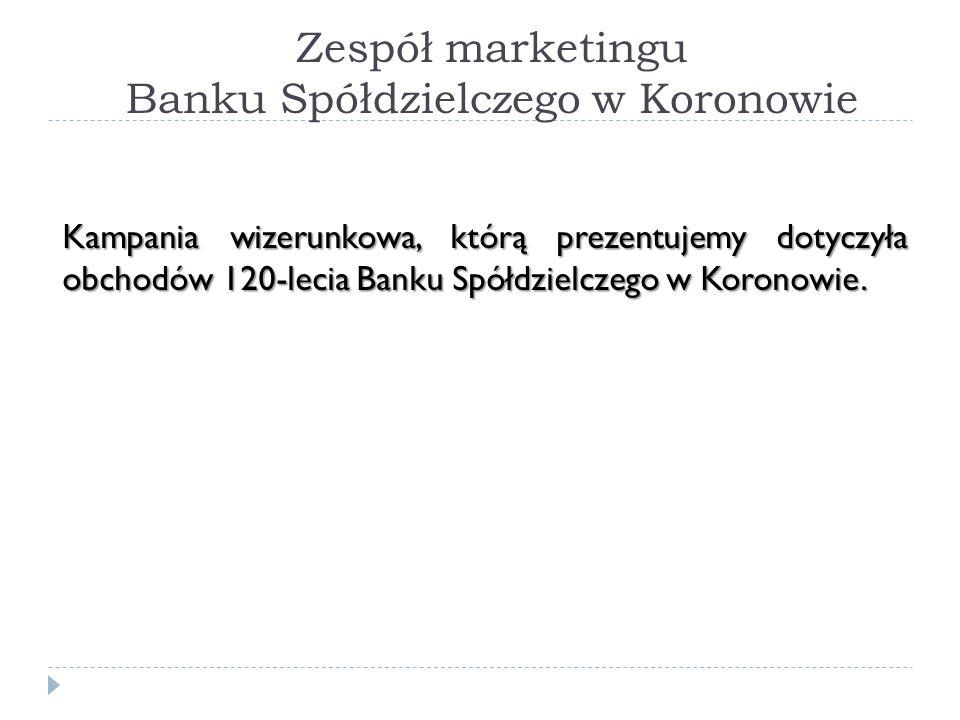 Zespół marketingu Banku Spółdzielczego w Koronowie