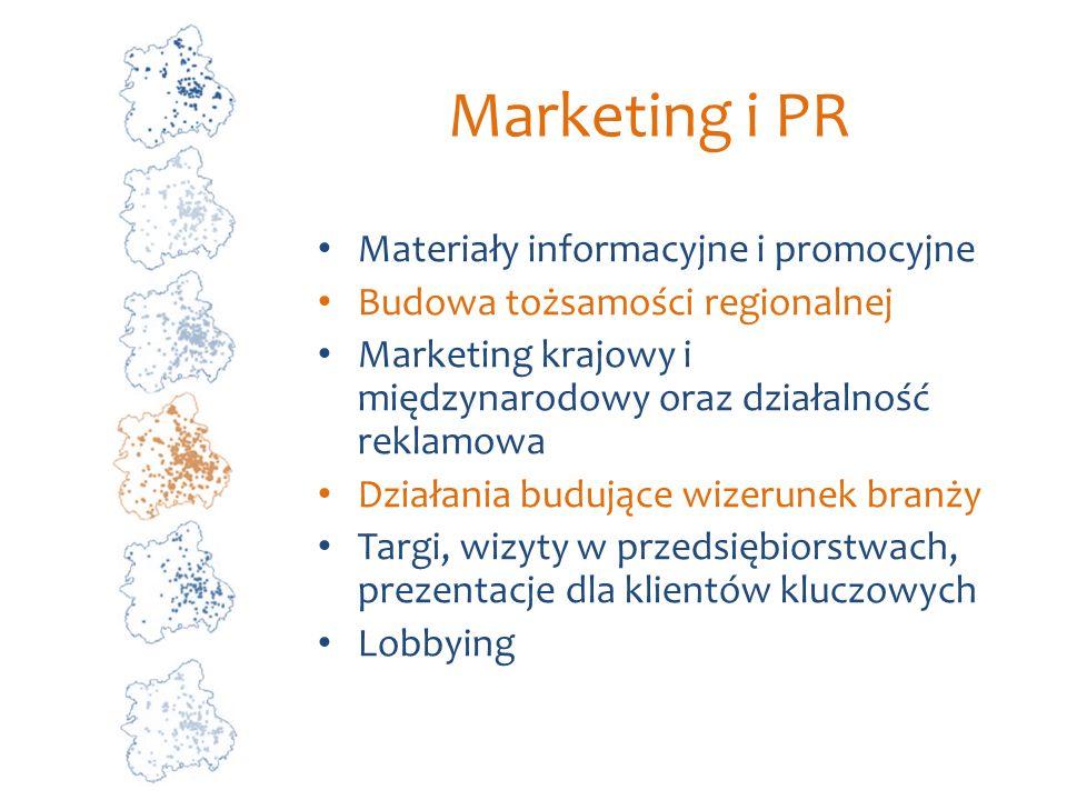 Marketing i PR Materiały informacyjne i promocyjne