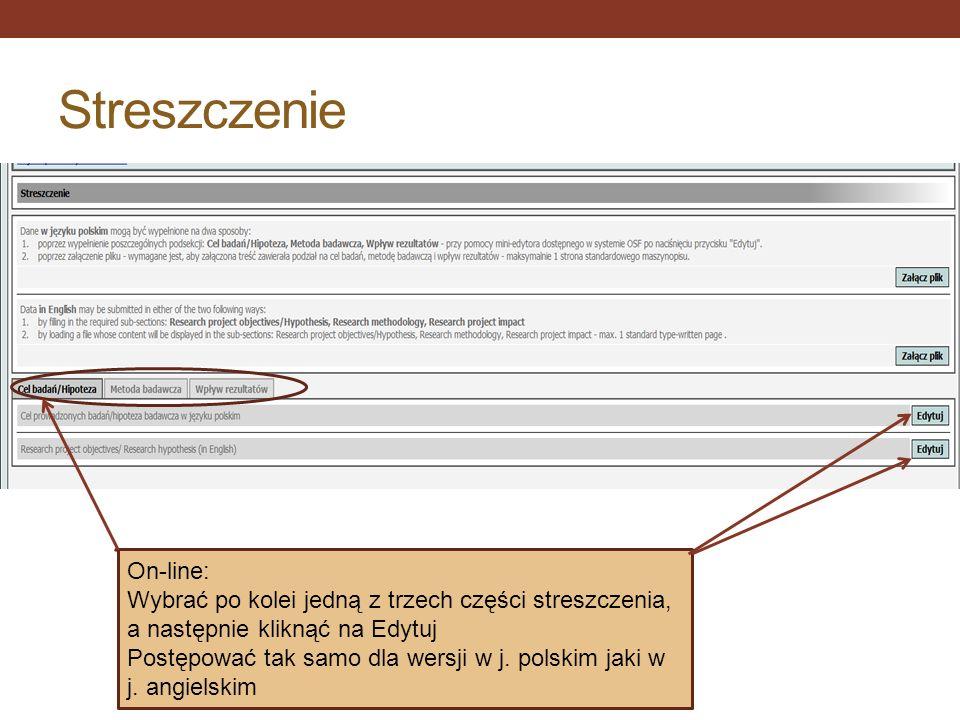 Streszczenie On-line: