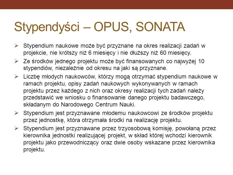 Stypendyści – OPUS, SONATA