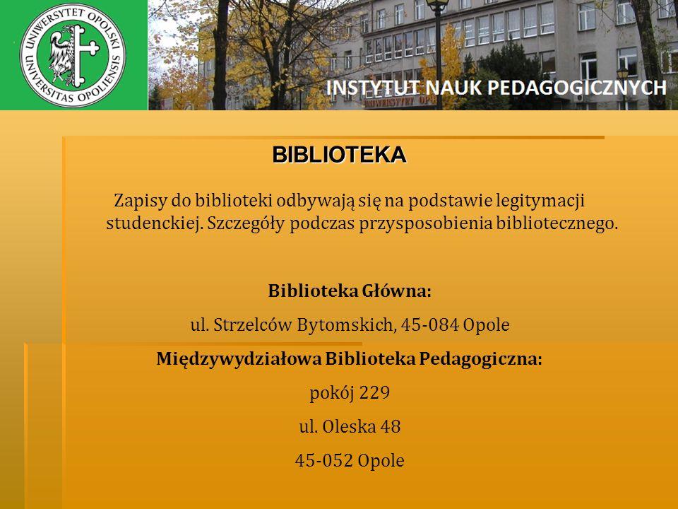 Międzywydziałowa Biblioteka Pedagogiczna: