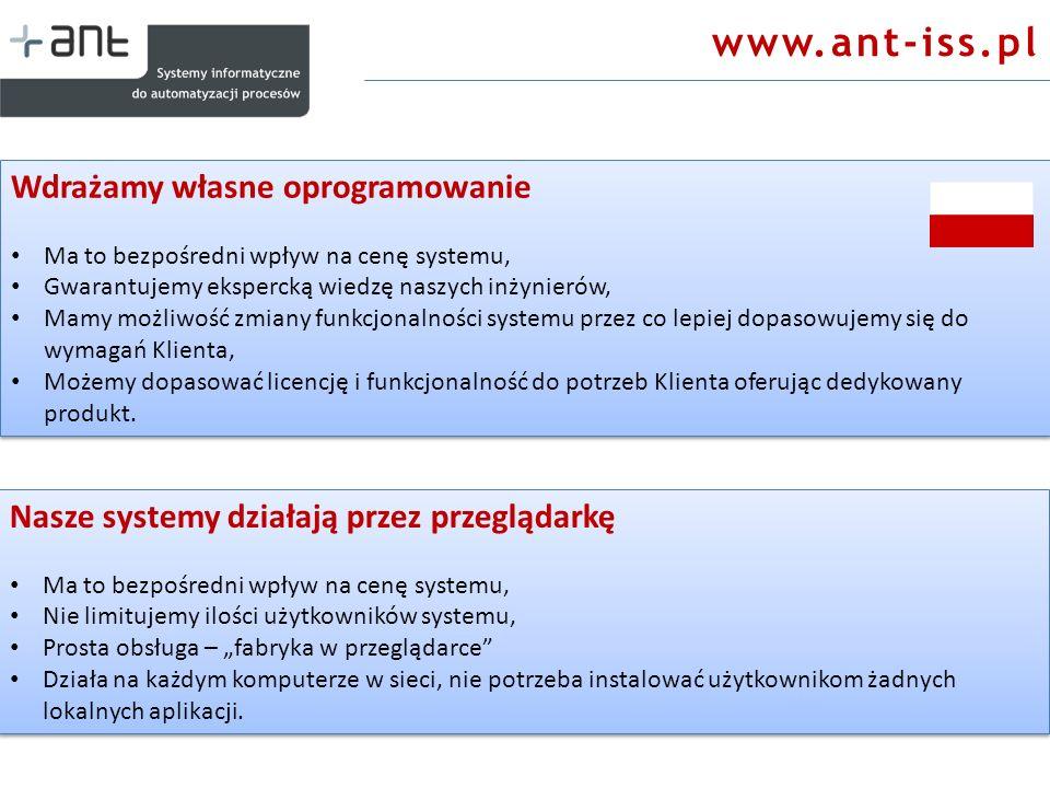 www.ant-iss.pl Wdrażamy własne oprogramowanie