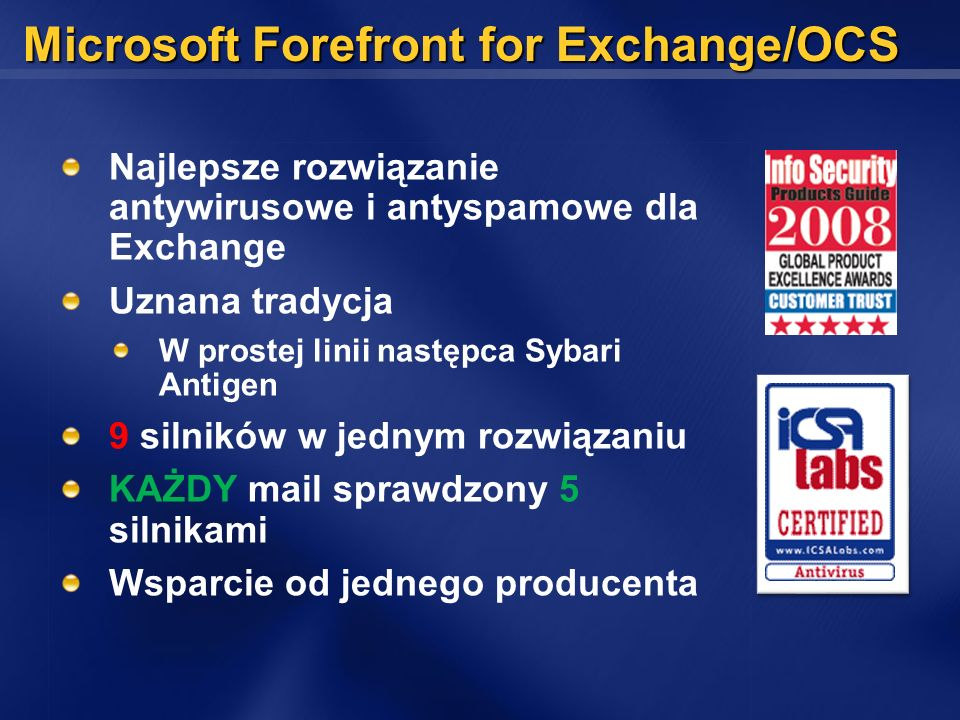 Microsoft Forefront for Exchange/OCS