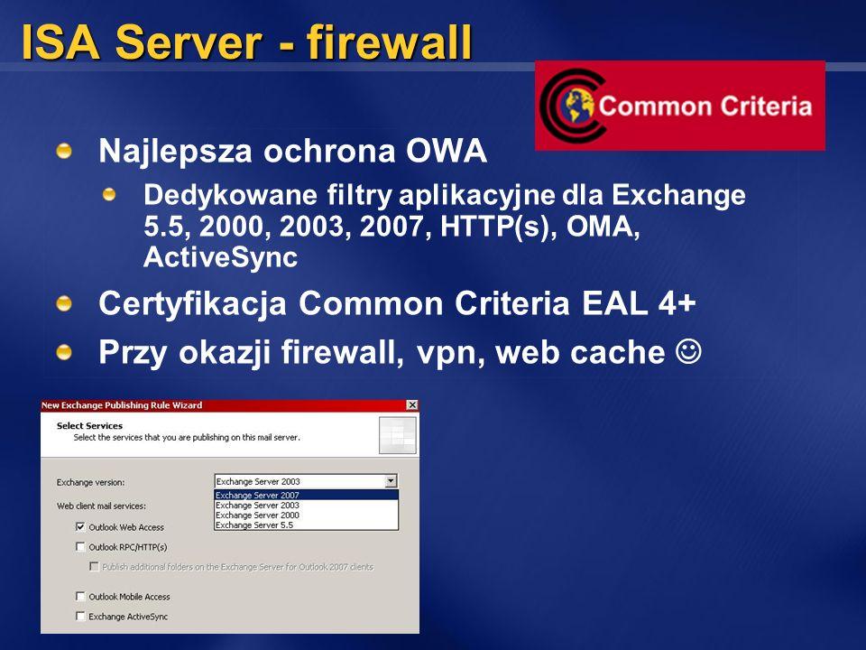 ISA Server - firewall Najlepsza ochrona OWA