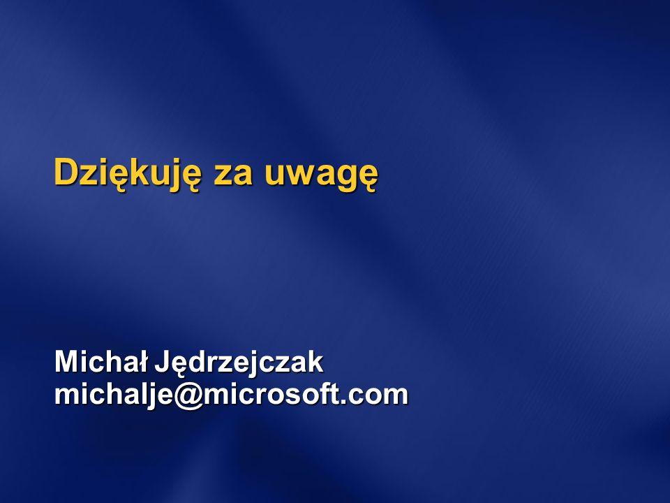 Michał Jędrzejczak michalje@microsoft.com