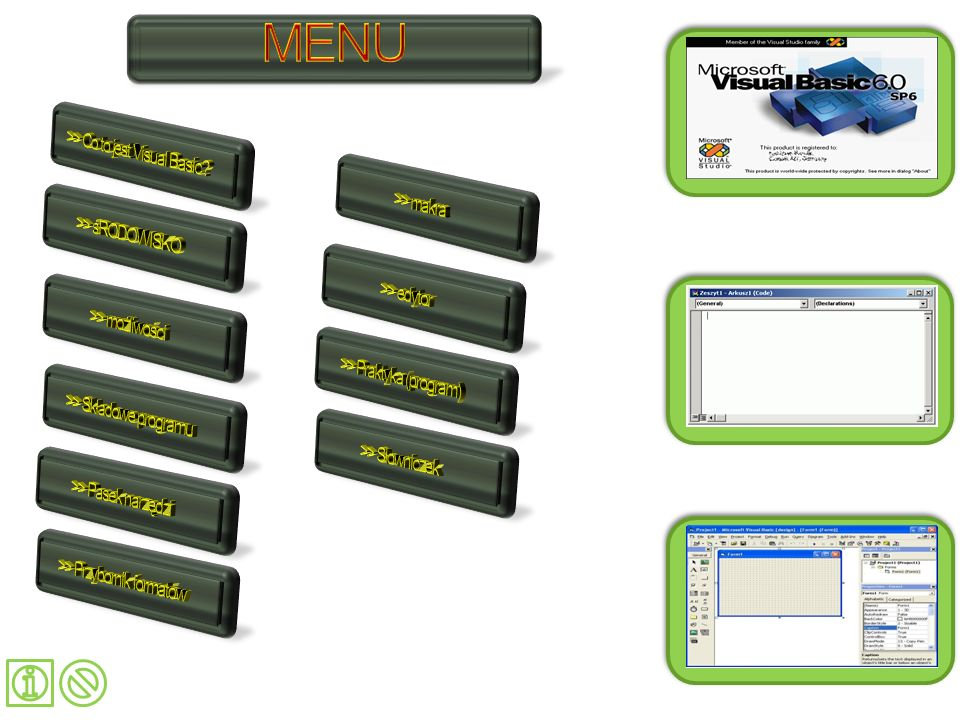 MENU Menu >> Co to jest Visual Basic >> makra