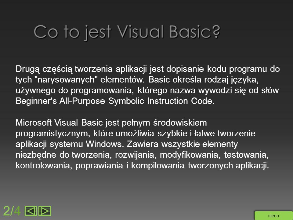 Co to jest Visual Basic 2/4
