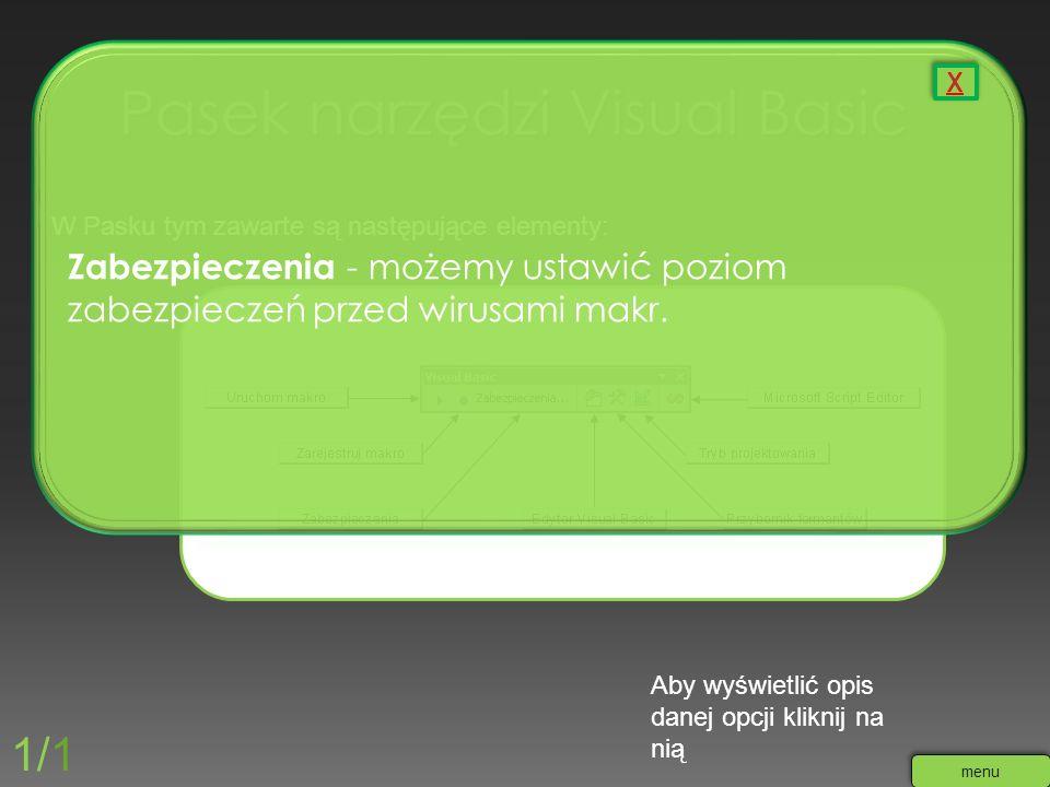 Pasek narzędzi Visual Basic