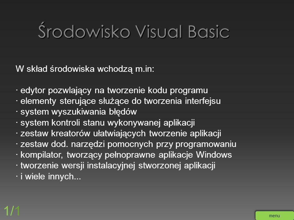 Środowisko Visual Basic