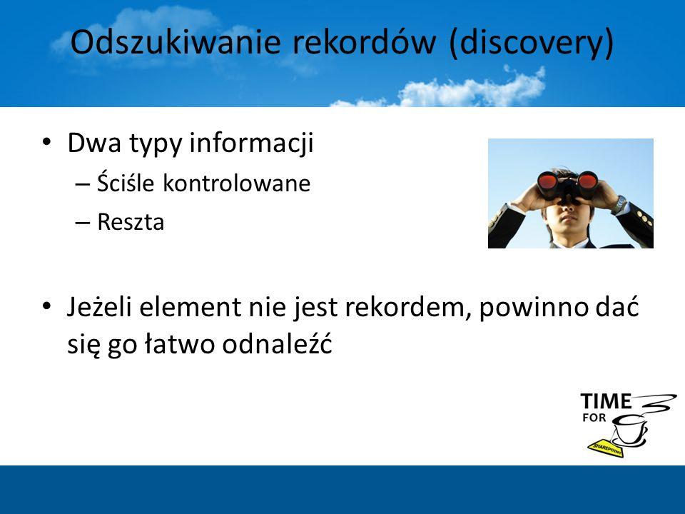 Odszukiwanie rekordów (discovery)