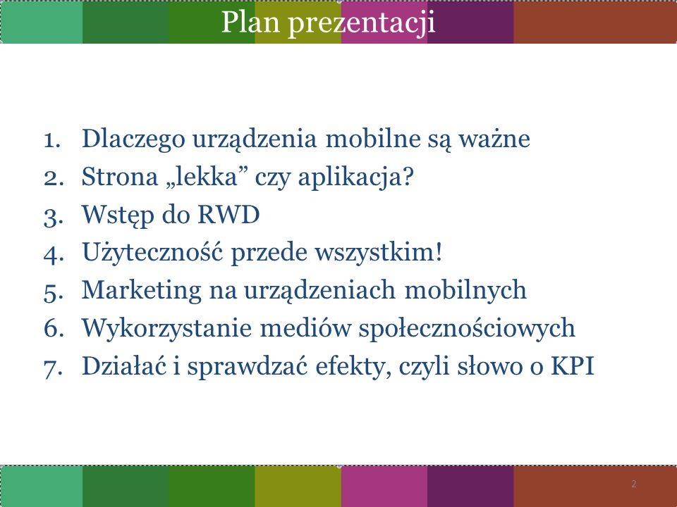 Plan prezentacji Dlaczego urządzenia mobilne są ważne