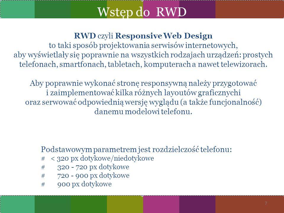 Wstęp do RWD RWD czyli Responsive Web Design