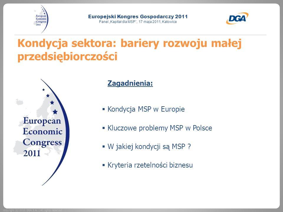 Kondycja sektora: bariery rozwoju małej przedsiębiorczości