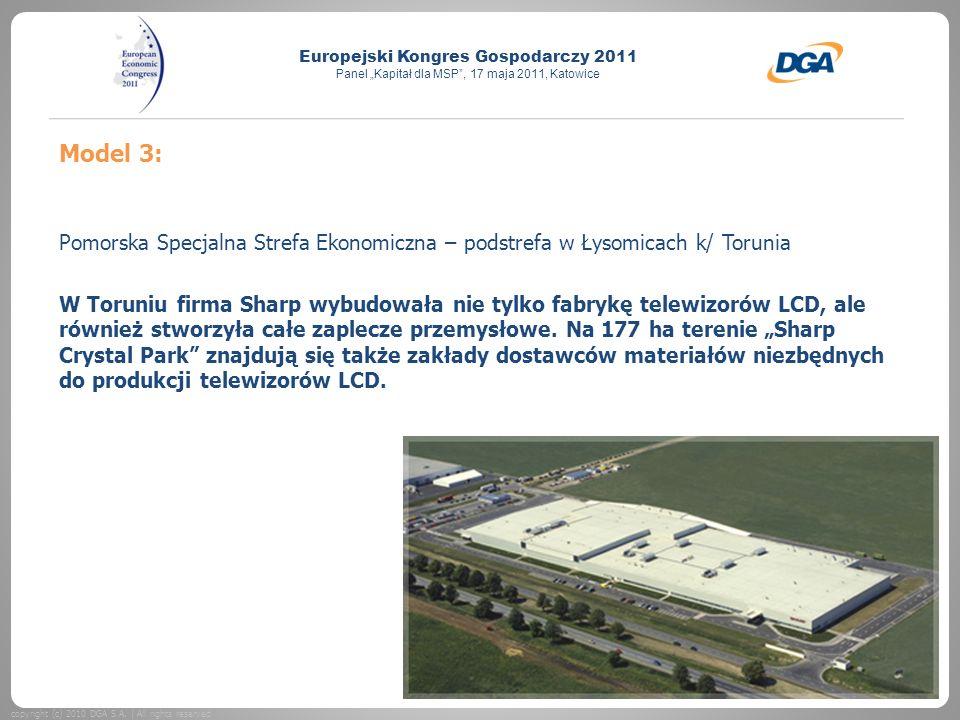 Model 3: Pomorska Specjalna Strefa Ekonomiczna – podstrefa w Łysomicach k/ Torunia.