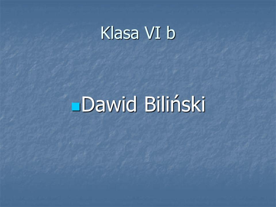 Klasa VI b Dawid Biliński