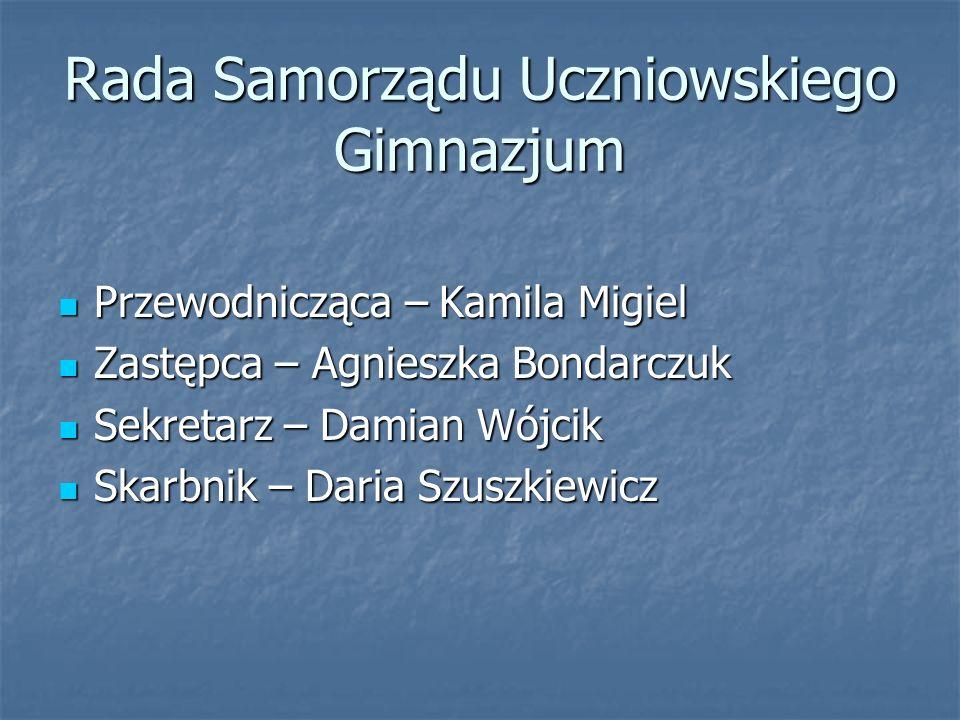 Rada Samorządu Uczniowskiego Gimnazjum