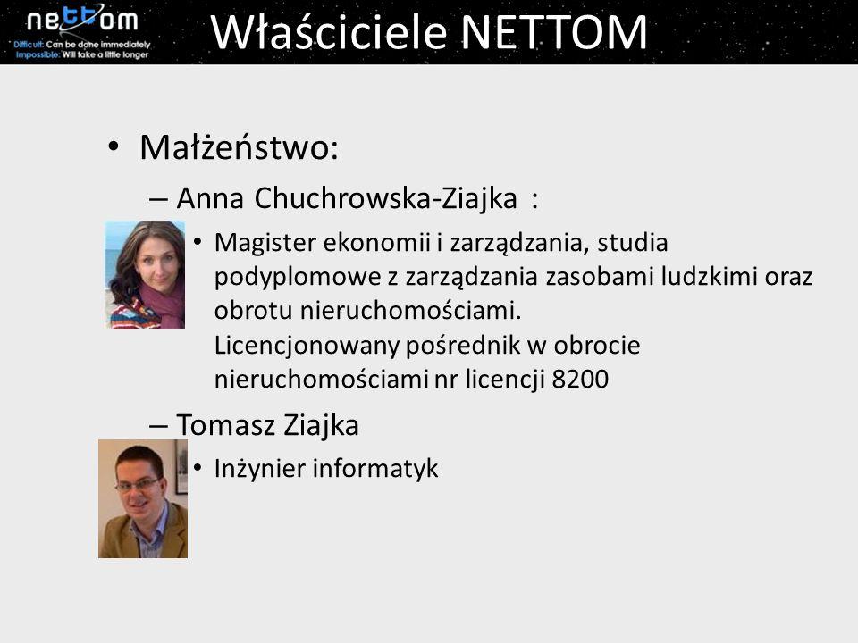 Właściciele NETTOM Małżeństwo: Anna Chuchrowska-Ziajka : Tomasz Ziajka