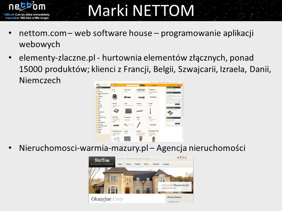 Marki NETTOM nettom.com – web software house – programowanie aplikacji webowych.