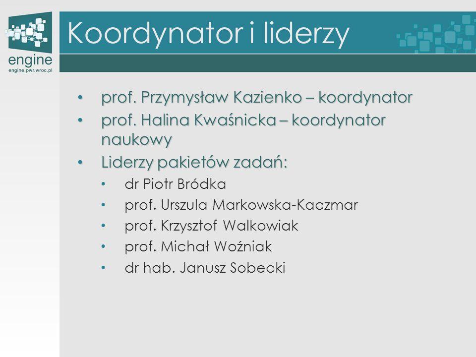 Koordynator i liderzy prof. Przymysław Kazienko – koordynator