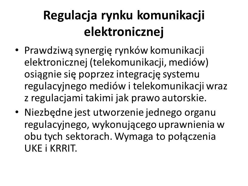 Regulacja rynku komunikacji elektronicznej
