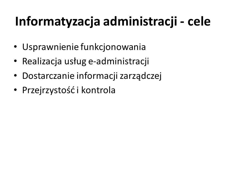 Informatyzacja administracji - cele