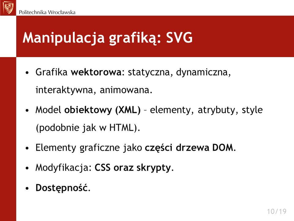 Manipulacja grafiką: SVG
