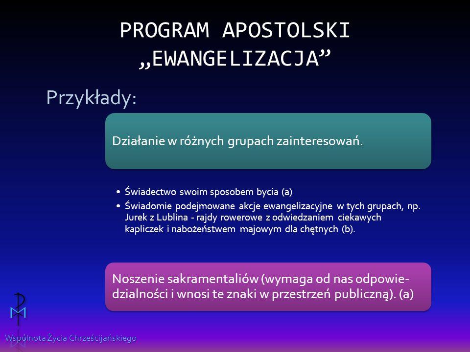 """Program apostolski """"Ewangelizacja"""