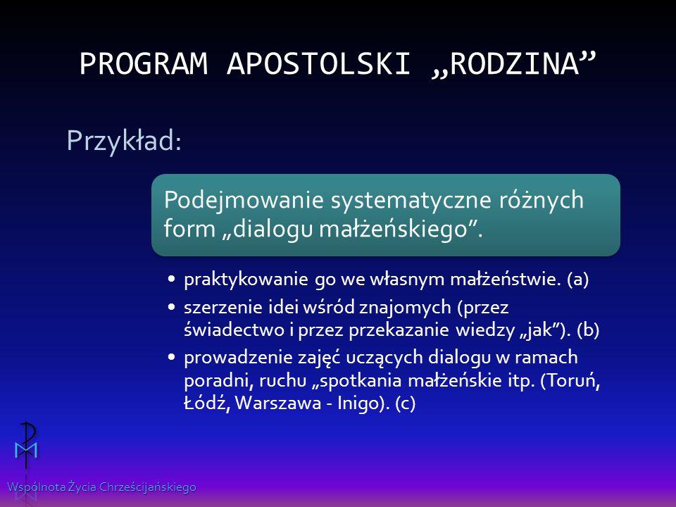 """Program apostolski """"Rodzina"""