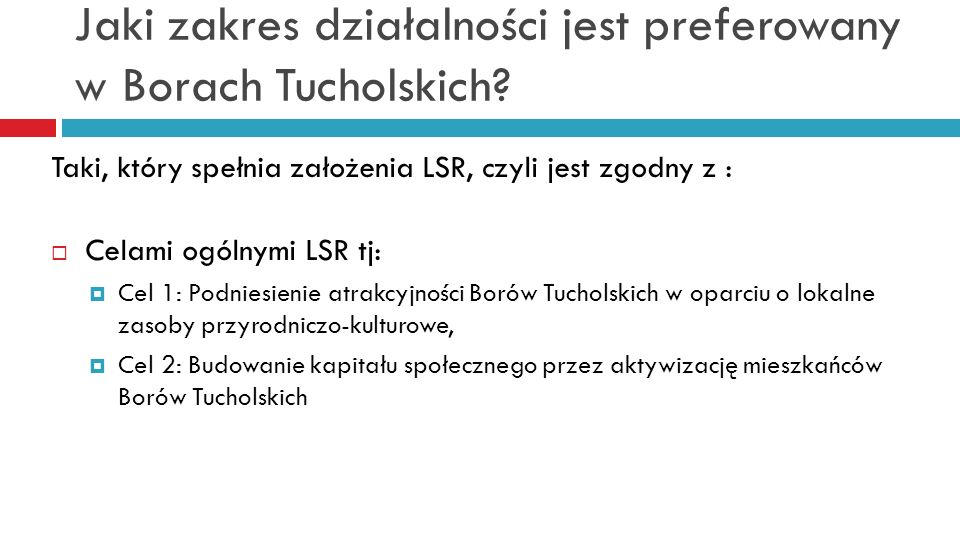 Jaki zakres działalności jest preferowany w Borach Tucholskich