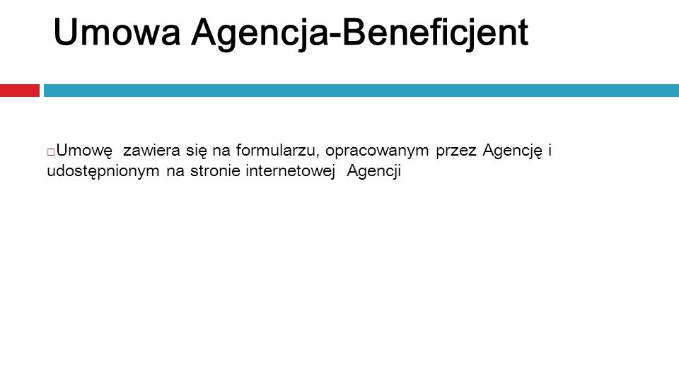 Umowa Agencja-Beneficjent
