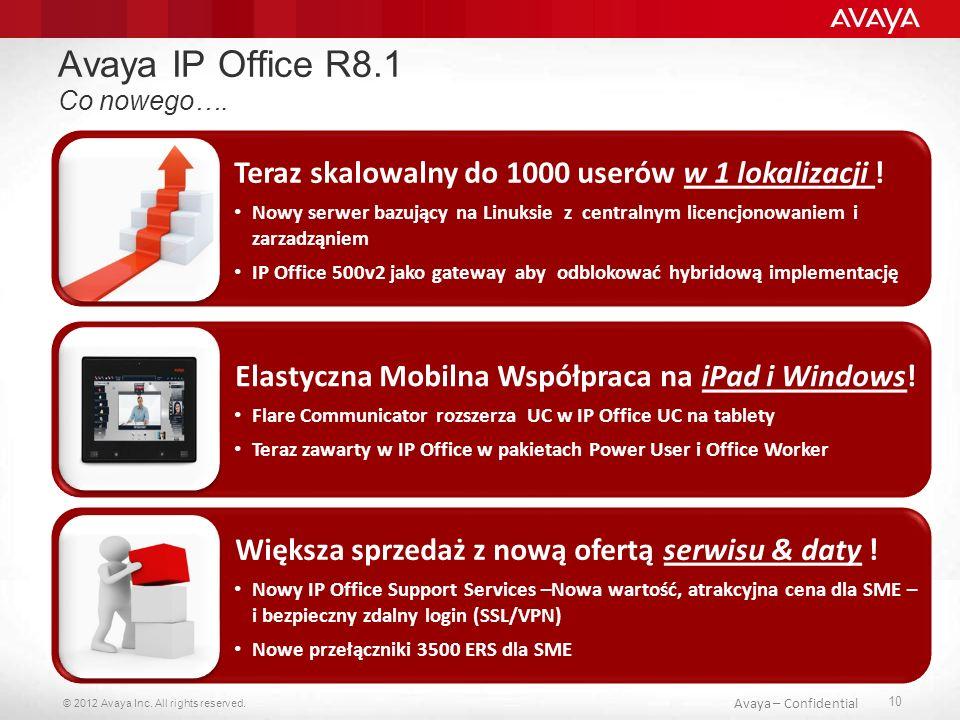 Avaya IP Office R8.1 Teraz skalowalny do 1000 userów w 1 lokalizacji !