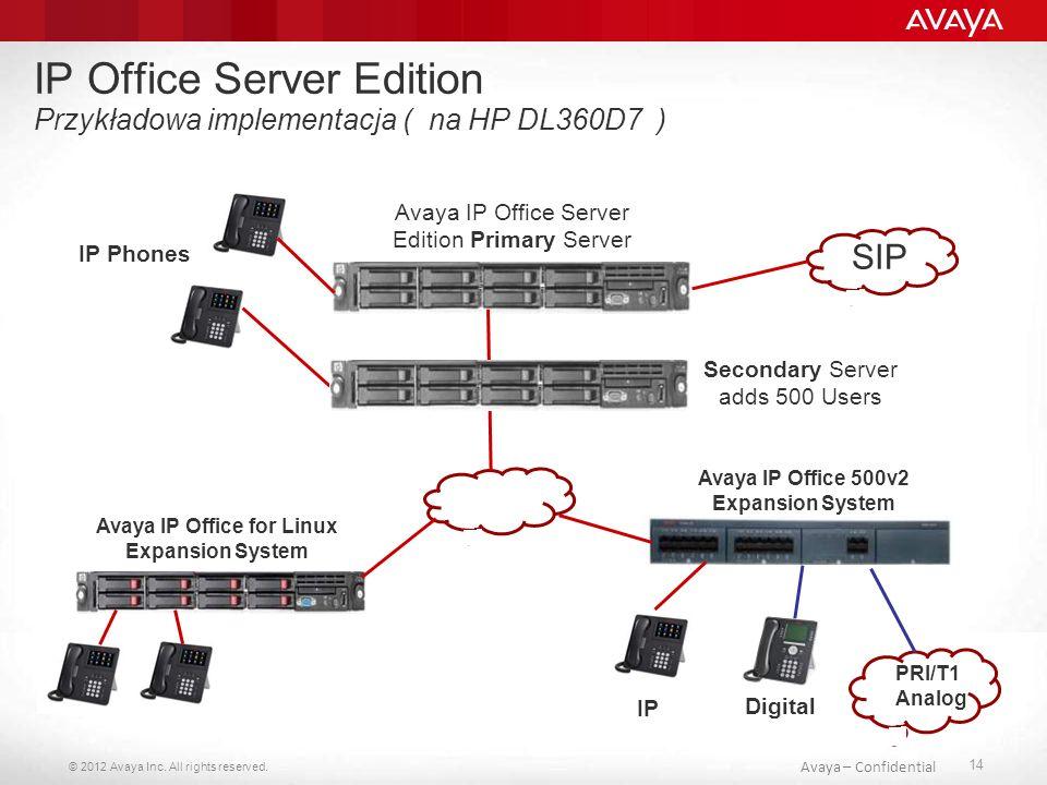 IP Office Server Edition Przykładowa implementacja ( na HP DL360D7 )
