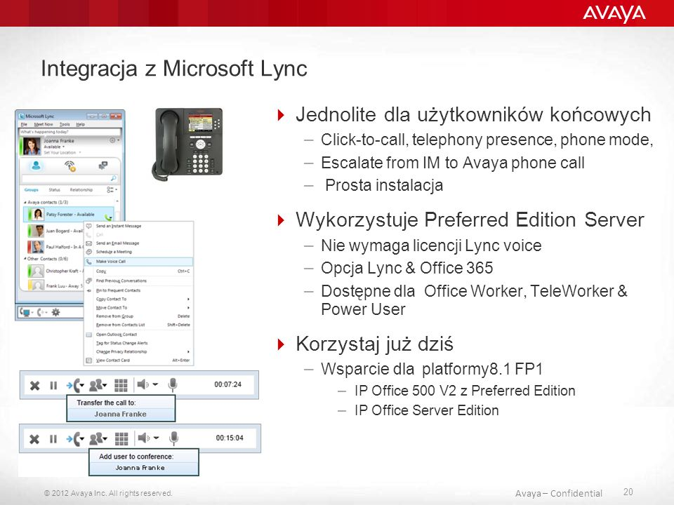 Integracja z Microsoft Lync