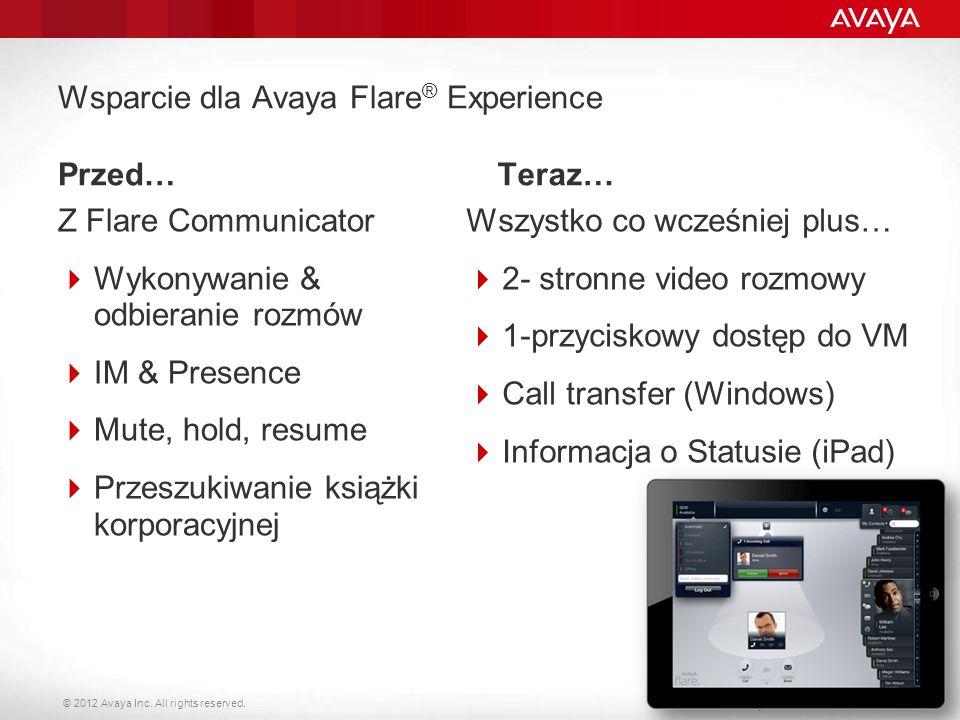 Wsparcie dla Avaya Flare® Experience