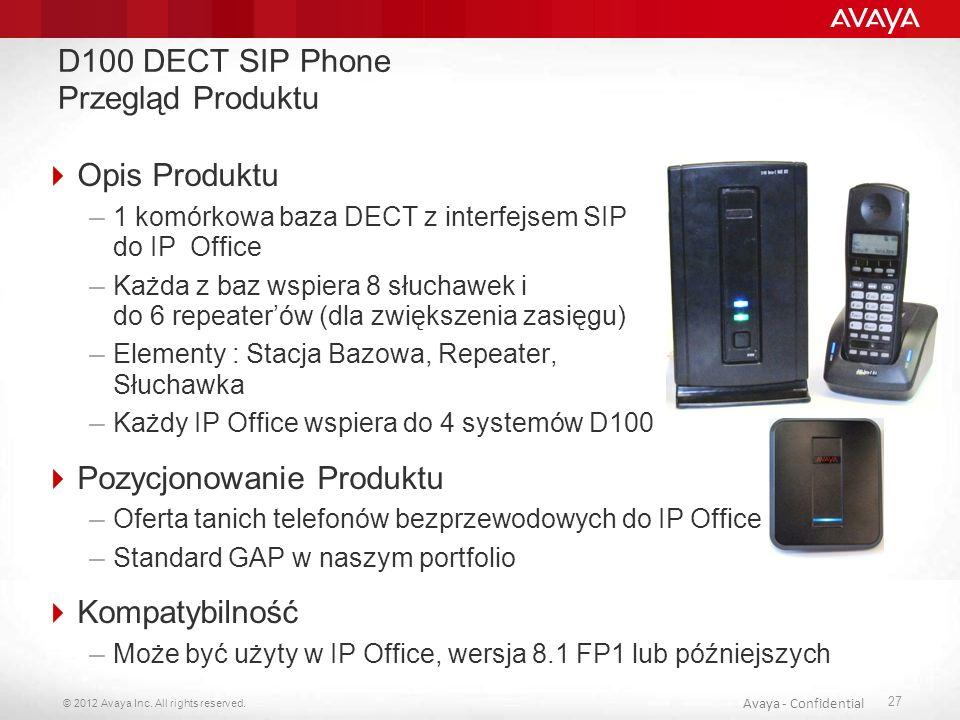 D100 DECT SIP Phone Przegląd Produktu