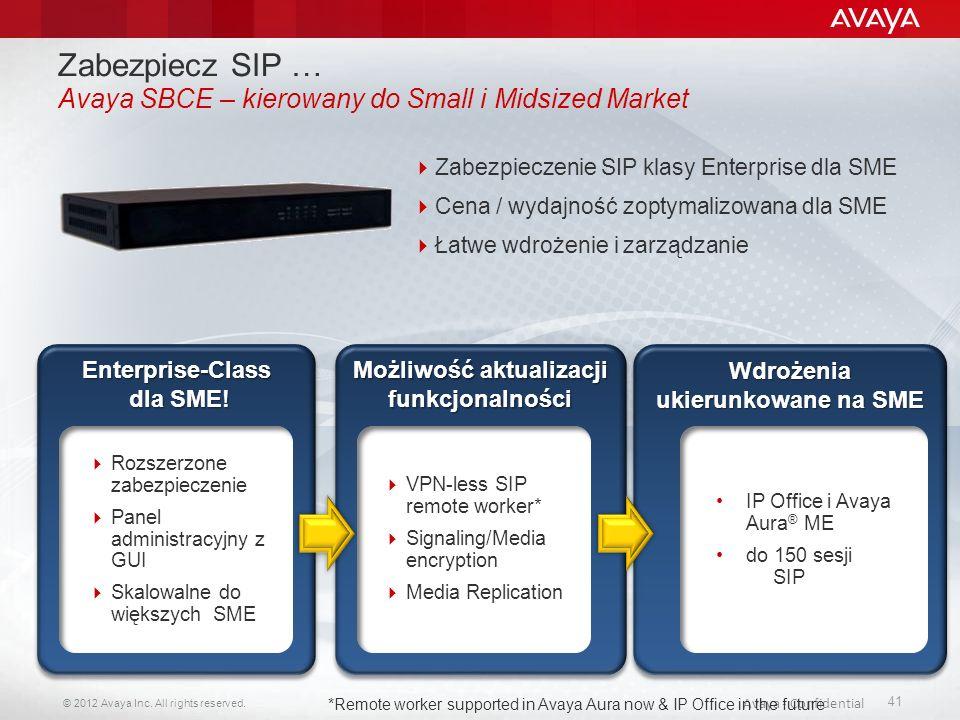 Zabezpiecz SIP … Avaya SBCE – kierowany do Small i Midsized Market