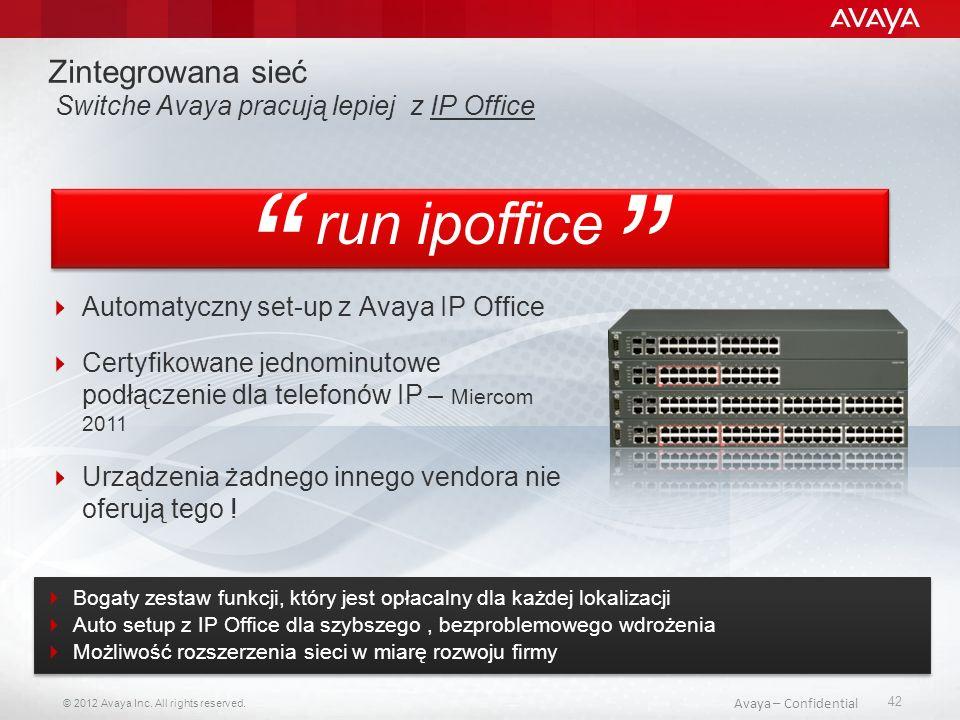 Zintegrowana sieć Switche Avaya pracują lepiej z IP Office