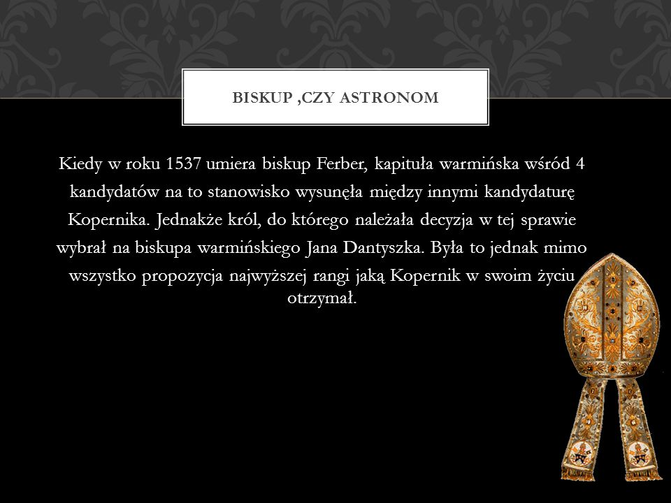Biskup ,czy astronom