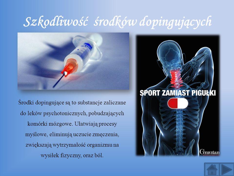 Szkodliwość środków dopingujących