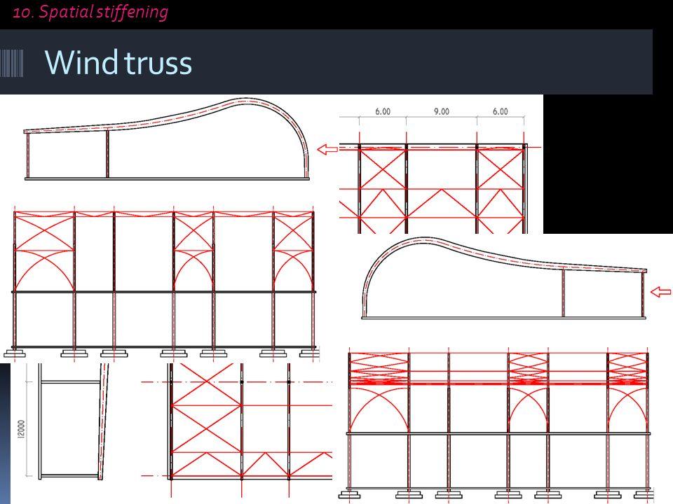 Wind truss transverse wind truss every 30m