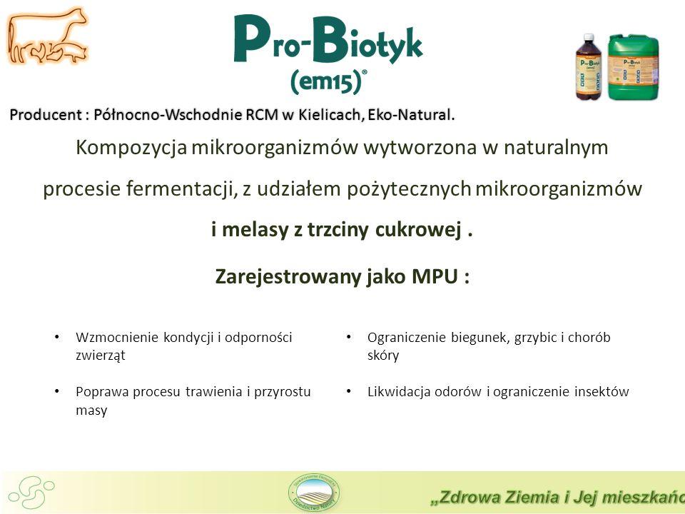 Producent : Północno-Wschodnie RCM w Kielicach, Eko-Natural.