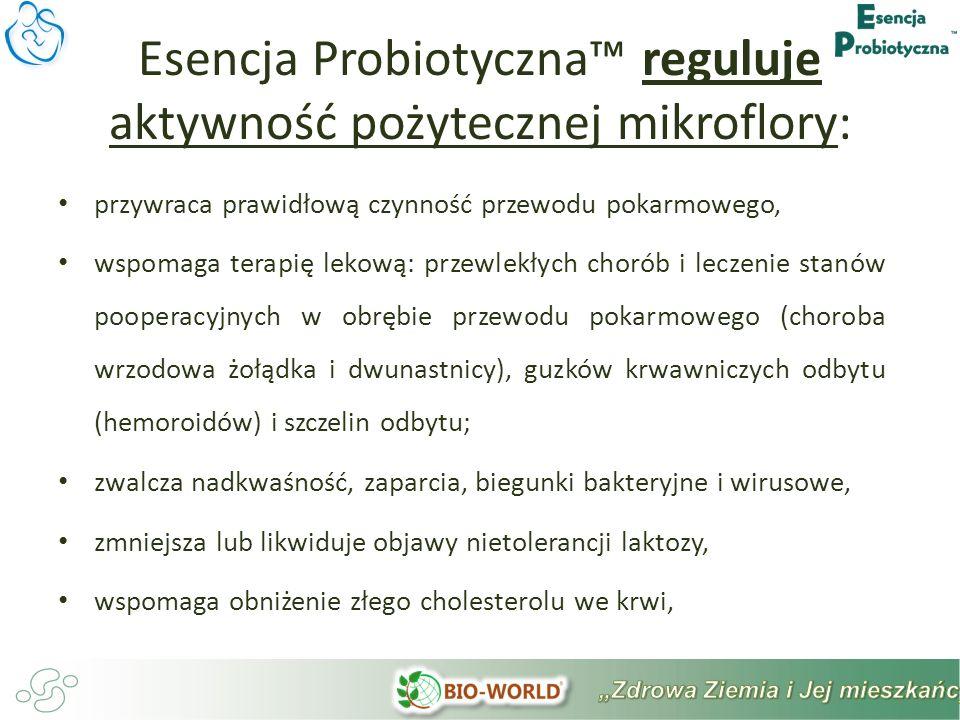 Esencja Probiotyczna™ reguluje aktywność pożytecznej mikroflory: