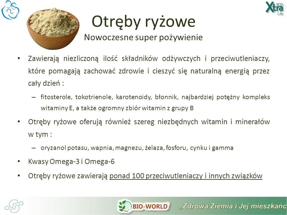 Otręby ryżowe Nowoczesne super pożywienie