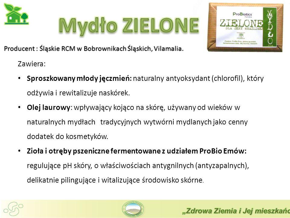 Mydło ZIELONE Zawiera:
